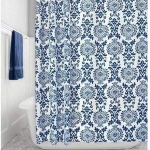 "mDesign Long Damask Print Shower Curtain 72"" x 84"""